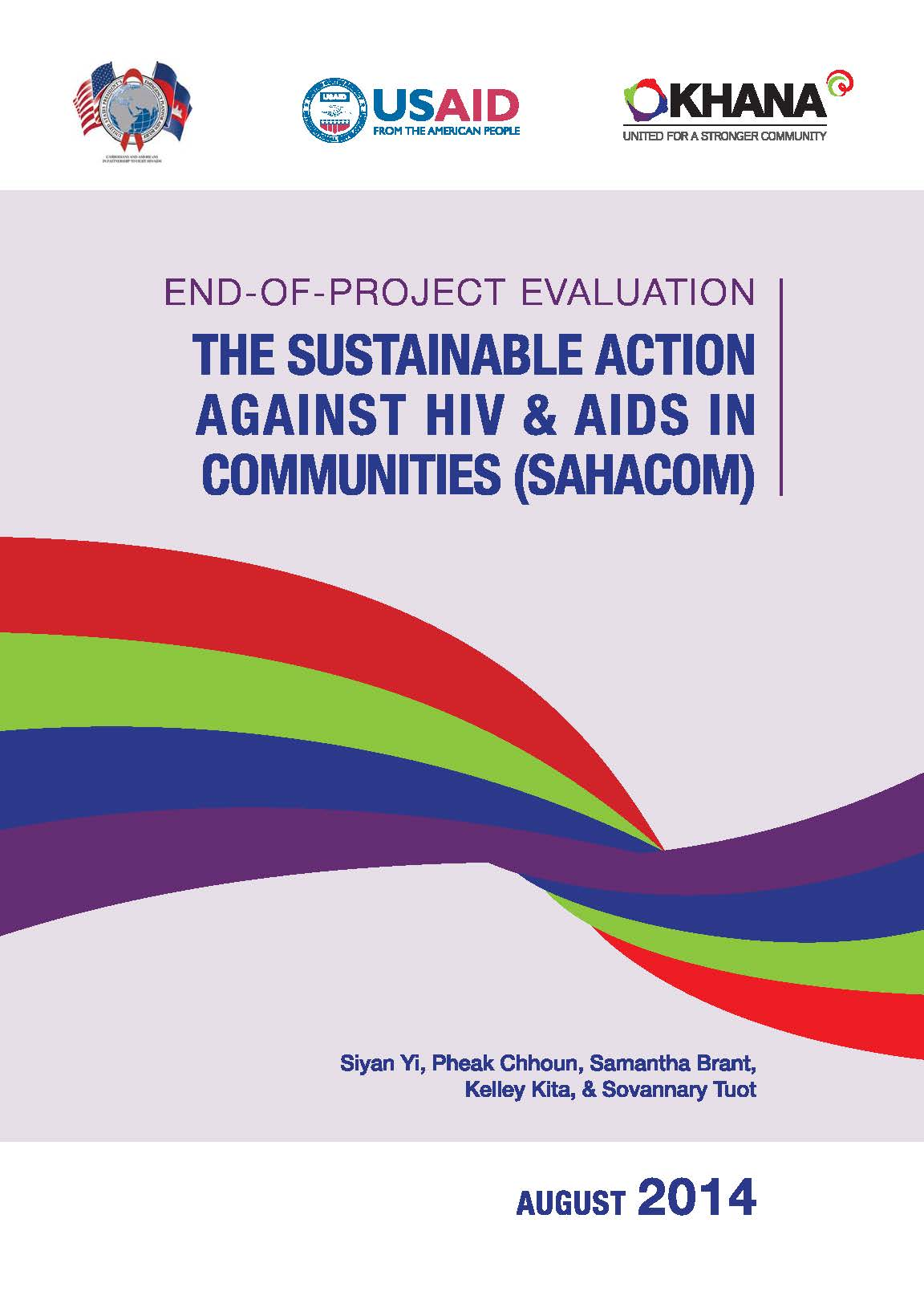 End-of-Project Evaluation: The sustainable action against HIV&AIDS in Communities (SAHACOM)